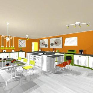 create a modern bright kitchen diner