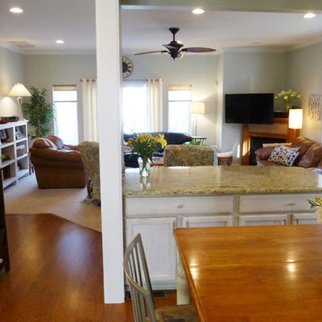 Create Open Floorplan by removing a load-bearing wall