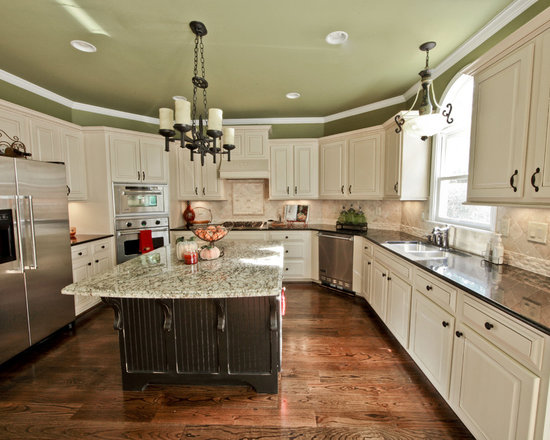 Custom Glazed Kitchen Cabinets refinished kitchens - painted, glazed, antiqued & custom stained