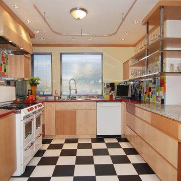Creative colorful kitchen in Monterey