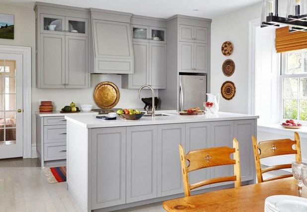 Transitional Kitchen by Meghan Carter Design Inc.