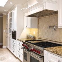 White + Travertine Kitchen