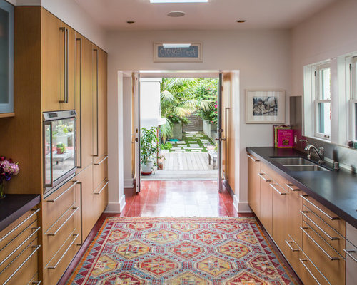 lavender how to open up a galley kitchen This Slideshow