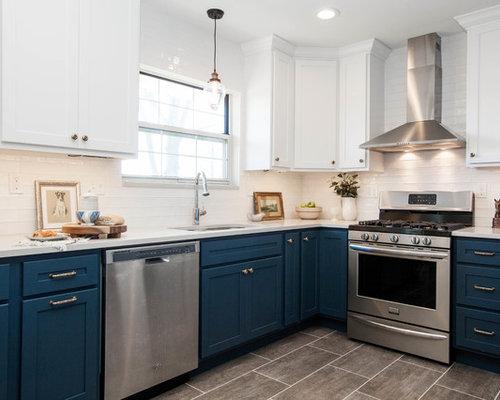 Küchen mit Vinylboden in St. Louis Ideen, Design & Bilder   Houzz
