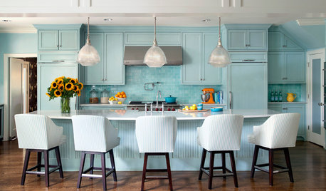 14 Ways to Bring Blue-Green Into Your Kitchen