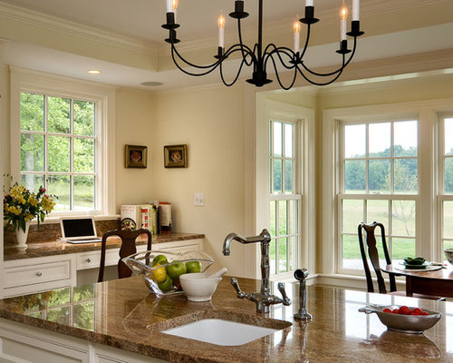 Inspiration For A Timeless Eat In Kitchen Remodel New York With An Undermount Sink