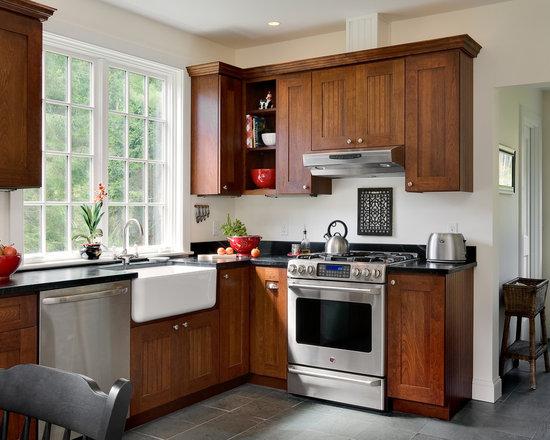 wood kitchen hood | houzz
