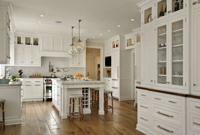 Gorgeous Kitchens Pleasing With Wood Floor White Kitchen Cabinets Lights Photos
