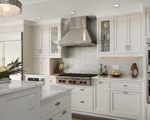 cuisine campagne avec une cr dence m tallis e photos et id es d co de cuisines. Black Bedroom Furniture Sets. Home Design Ideas