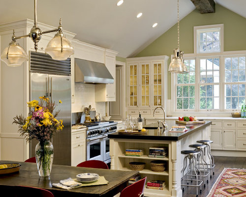 Vaulted kitchen ceiling ideas roselawnlutheran for Vaulted ceiling kitchen designs