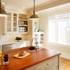 Transitional Kitchen by Laura Martin Bovard
