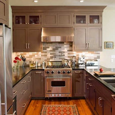 Contemporary Kitchen by Crown Point Cabinetry