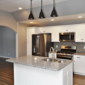 Crown Point, IN. BaileyTown USA. White Maple Kitchen and Multiple Bathrooms