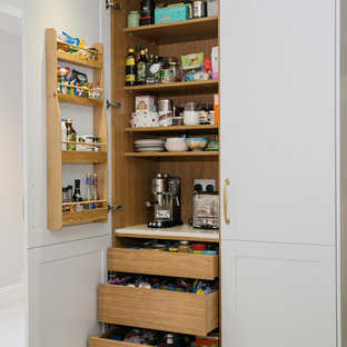 Photo Of A Classic Kitchen Pantry In London.