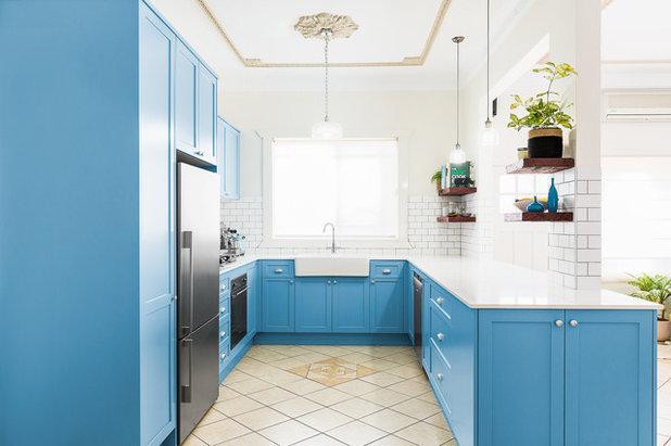 Transitional Kitchen by Balnei & Colina