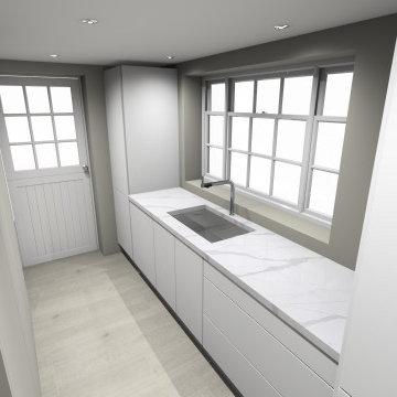 CS's Kitchen and laundry