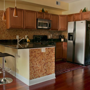 Tropical kitchen pictures - Island style kitchen photo in DC Metro
