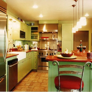 Cuban Inspired Mid Century Eclectic Kitchen
