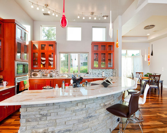Marvelous Red Cherry Cabinets