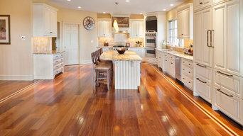 Cumuru, Brazilian Cherry, and Maple Wide Plank Floors in Edgmont Delaware Count