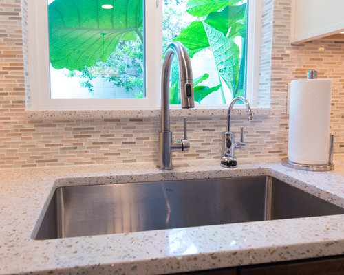 Modern u shaped kitchen design ideas remodels amp photos with recycled