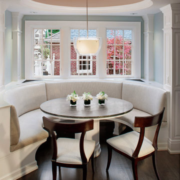 Curved Banquette Seat in Kitchen