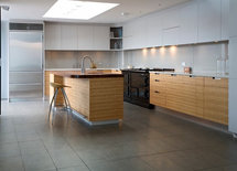 Love the cabinets and the curved glass backspash