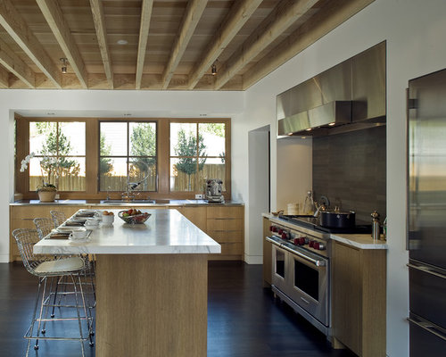Houzz exposed ceiling joists design ideas remodel pictures for Exposed ceiling design