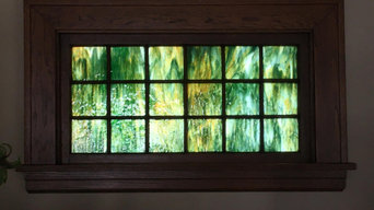 Custom Art Glass Installation, Potekglass
