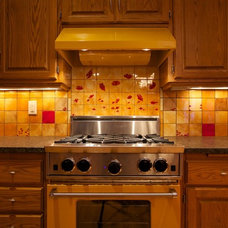 Eclectic Kitchen by BonTon tile