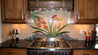 Custom Botanical Backsplash