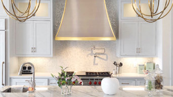 Custom brass trim hood design