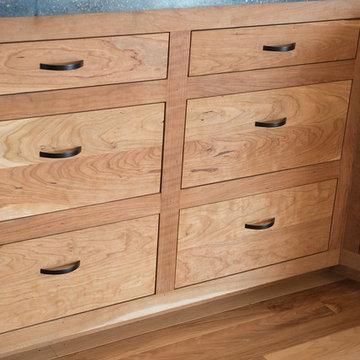 Custom cherry kitchen cabinets