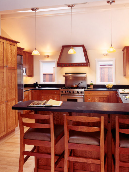 Houzz   Cherry Wood Cabinets Design Ideas & Remodel Pictures