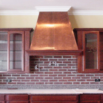Custom Copper Range Hood