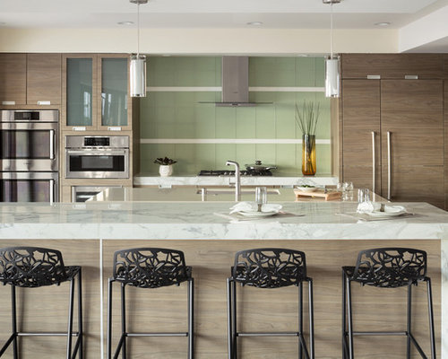 Superior Inspiration For A Huge Contemporary Galley Kitchen Remodel In Las Vegas  With An Undermount Sink,