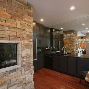 Inspiration for a modern kitchen remodel in Indianapolis