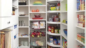 Custom Designed Pantry With Various Storage Areas