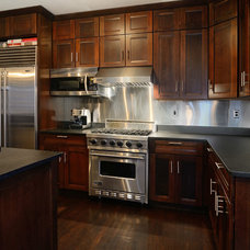 Transitional Kitchen by Hudson Place Realty