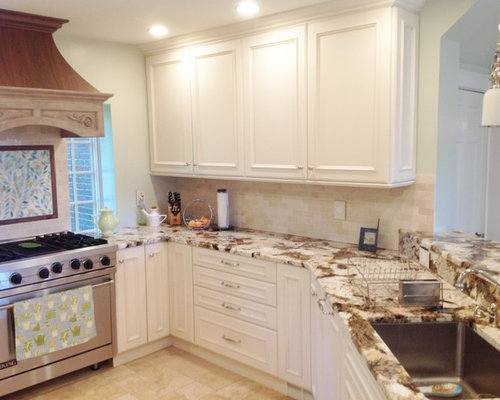 Custom Elmwood Kitchen, Copenhagen Granite Tops, by Carole Kitchen ...