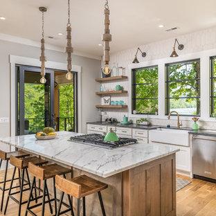 Farmhouse kitchen designs - Kitchen - cottage kitchen idea in Other