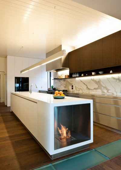 kitchen by ecomodern design - Gel Fuel Fireplace