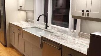 Custom Grey and White Kitchens