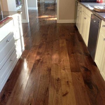 Custom Handscraped and Oiled Walnut Flooring