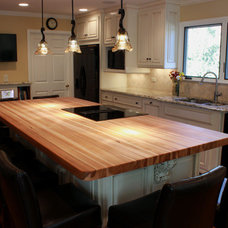 Traditional Kitchen by J. Aaron Custom Wood Countertops