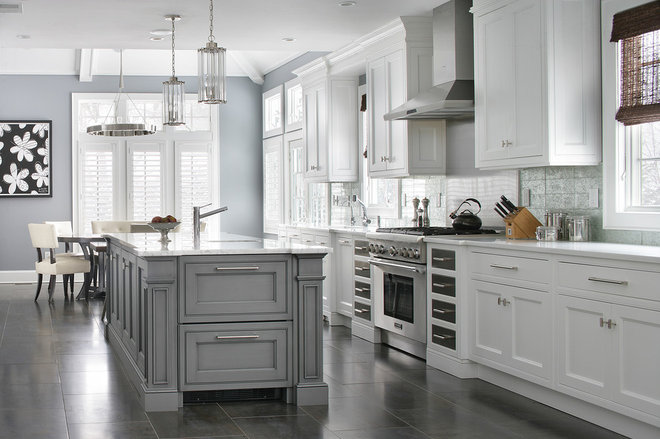 Transitional Kitchen by Durso Construction Management