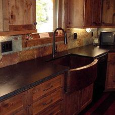 Rustic Kitchen by R.M. Hale Construction