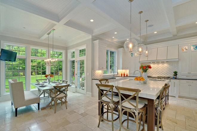 Transitional Kitchen by Newgard Custom Homes