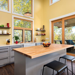 75 Beautiful Kitchen With Yellow Backsplash Pictures Ideas Houzz
