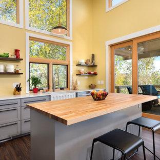 75 Beautiful Kitchen With Yellow Backsplash Pictures Ideas Houzz
